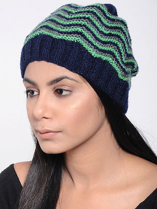 Green-Blue Wool Cap