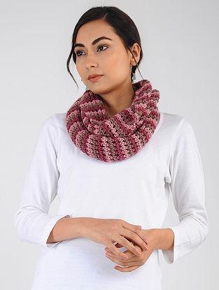 Pink Hand Knitted Wool Blend Loop