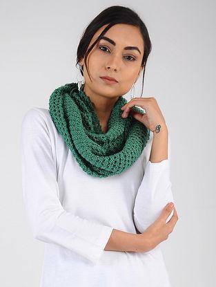 Green Hand Knitted Wool Blend Loop