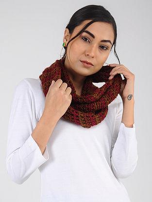 Red-Brown Hand Knitted Wool Blend Loop