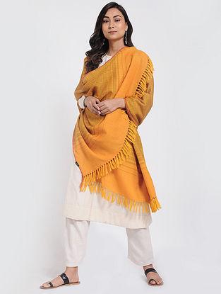 Orange Musturd Merino Wool Shawl