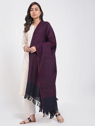Pink-Black Merino Wool Shawl