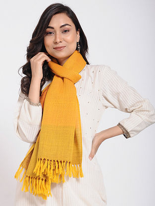Yellow Merino Wool Stole