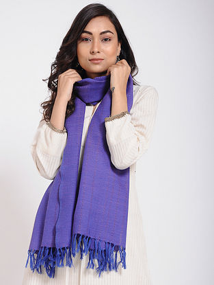 Blue Merino Wool Stole