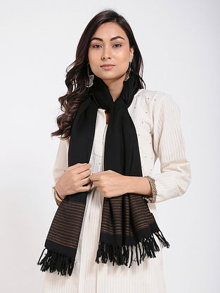 Black Merino Wool Stole