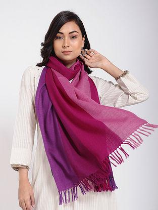 Magenta-Pink Merino Wool Stole