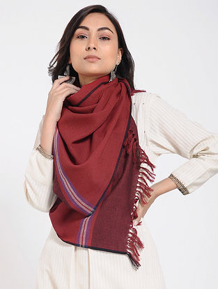 Red Merino Wool Stole