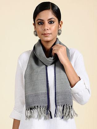 Grey Handwoven Merino Wool Scarf