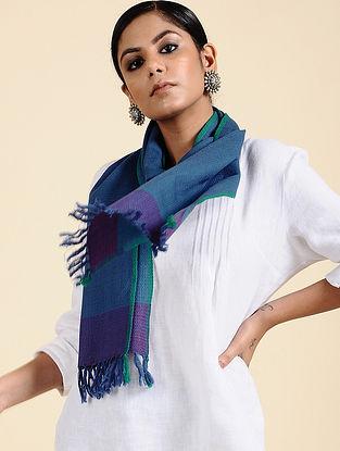 Blue Handwoven Merino Wool Scarf