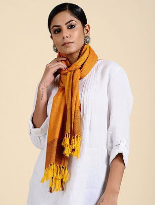 Yellow Handwoven Merino Wool Stole