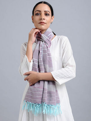 Purple Handwoven Cotton Stole