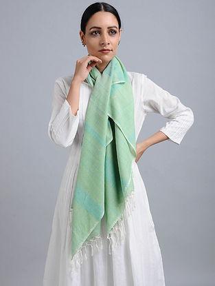 Sea Green Handwoven Cotton Stole