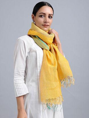 Yellow Handwoven Linen Stole