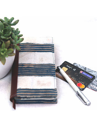 Multicolored Cotton and Leather Pouch