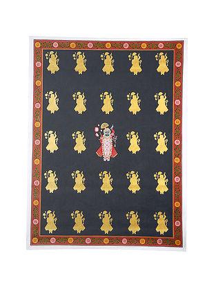 Shri Nathji in Chaap Design Mix Media on Cotton (45in x 33in)