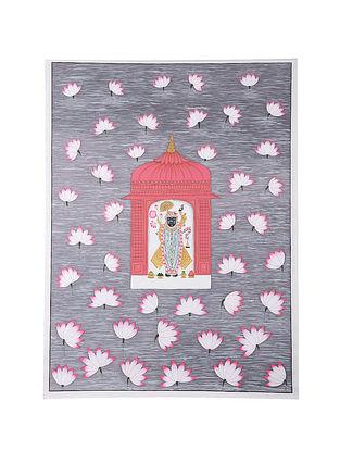 Shri Nathji Contemporary Gopashtami Festival Mix Media on Cotton (45in x 33in)