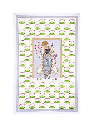 Shri Nathji Contemporary Gopashtami Festival Mix Media on Cotton (67in x 43in)