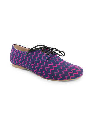 Blue-Purple Handcrafted Oxford Shoes