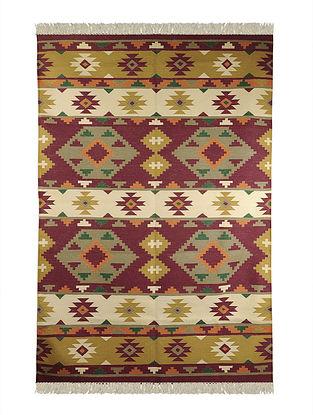Multi-Color Cotton Punja Durrie 72in x 49in