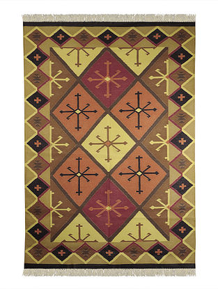 Multi-Color Cotton Punja Durrie 73in x 50in
