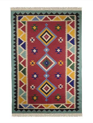 Multi-Color Cotton Punja Durrie 72in x 50in