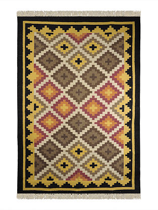 Multi-Color Cotton Punja Durrie 73in x 51in