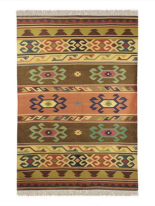 Multi-Color Cotton Punja Durrie 71in x 49in