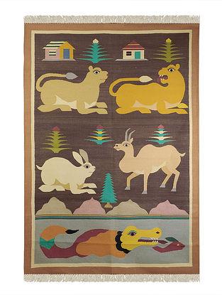 Multi-Color Cotton Punja Durrie 71in x 51in