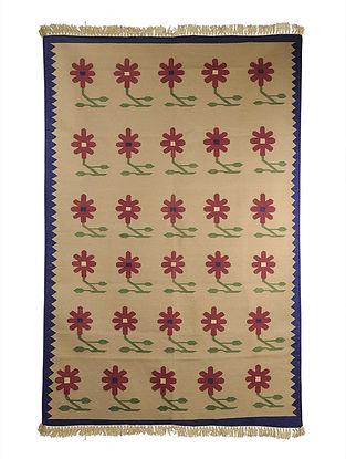 Multi-Color Cotton Punja Durrie 69in x 48in