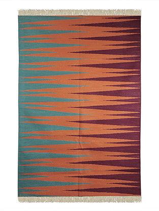 Multi-Color Cotton Punja Durrie 71in x 50in