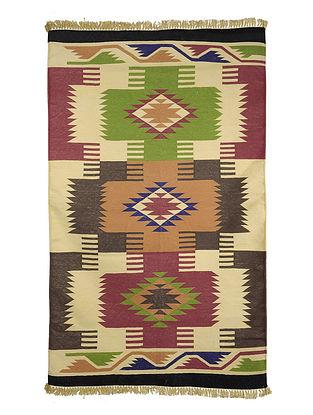 Multi-Color Cotton Punja Durrie 59.5in x 36in