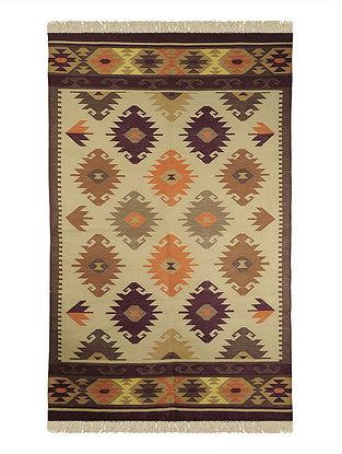 Multi-Color Cotton Punja Durrie 71.5in x 48in
