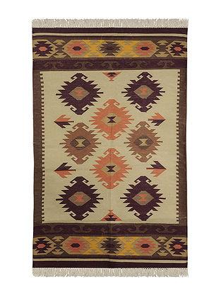 Multi-Color Cotton Punja Durrie 59in x 36.5in