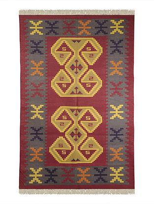 Multi-Color Cotton Punja Durrie 71in x 48in