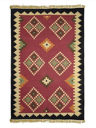Multi-Color Cotton Punja Durrie 60.5in x 37in