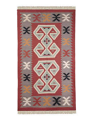 Multi-Color Cotton Punja Durrie 60in x 37in