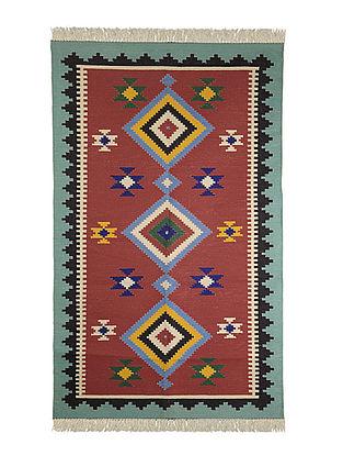 Multi-Color Cotton Punja Durrie 59in x 37in