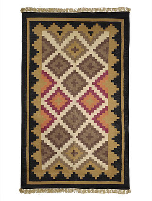 Multi-Color Cotton Punja Durrie 58in x 37.5in