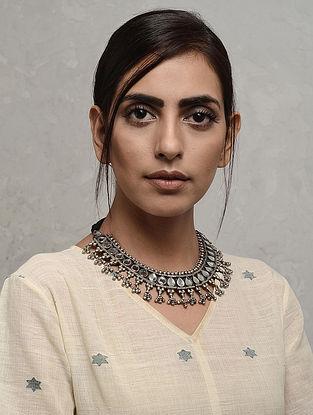 Black Silver Necklace with Deity Motif