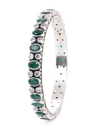 Green Silver Bangle (Bangle Size -2/8)