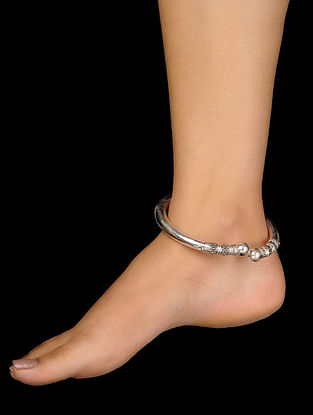 Tribal Silver Anklet
