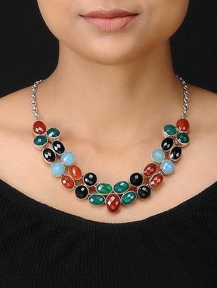 Multicolored Silver Necklace
