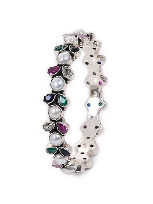 Multicolored Silver Bangle (Bangle Size: 2/6)