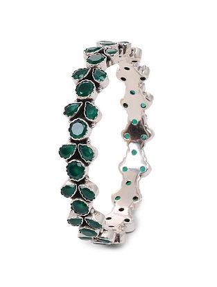 Green Silver Bangle (Bangle Size: 2/6)