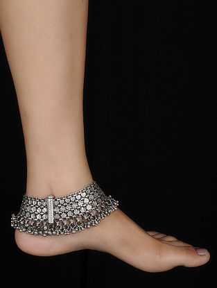 Vintage Silver Anklets (Set of 2)