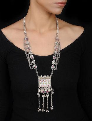 Multicolored Vintage Silver Necklace