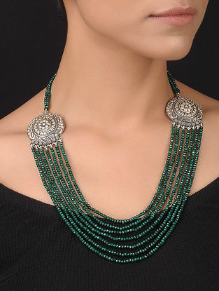 Green Silver Necklace