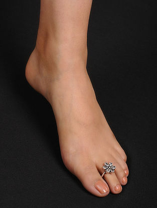 Classic Adjustable Silver Toe Rings (Set of 2)