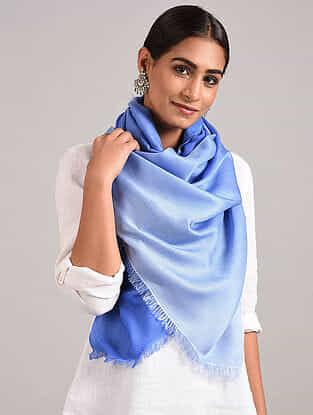 Blue Handwoven Pashmina Silk Stole