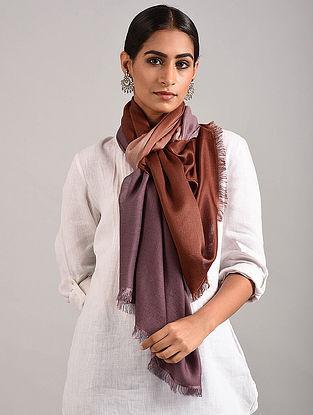 Brown-Wine Handwoven Pashmina Silk Stole